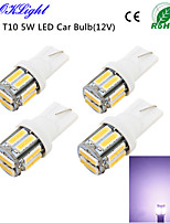 YouOKLight® 4PCS T10 5W 400lm 10-SMD7020 6000K White Light LED Car Bulb Light(12V)