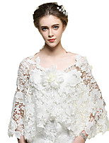 Wedding / Party/Evening / Casual Lace / Tulle Capes Sleeveless Wedding  Wraps