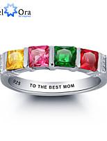 Kubisk Zirkonium / Sterling Sølv Ringer Dame / Par / Unisex Kubisk Zirkonium Kubisk Zirkonium / Sterling Sølv