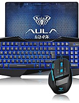 AULA  DEATH WINGS Gaming Keyboard and Mouse Combo Backlit Wired USB with Gaming Mouse Pad