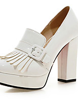 Women's Wedding Shoes Heels / Square Toe Heels Wedding / Dress Black / Red / White