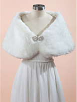 Wedding / Party/Evening Faux Fur Capelets Sleeveless Wedding  Wraps