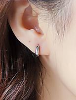 S925 Fine Silver  Hoop Earrings for Men&Women,Fine Jewelry