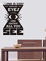 AWOO® New Wall Sticker Eyes All You Pattern Group On Behalf Of English customization