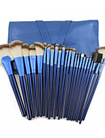 Professional Soft 24pcs Makeup Brushes Set CosmeticMake Up Tools Set with Leather Case - Blue
