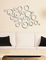 Circles Mirror Style Removable Decal Vinyl Art Wall Sticker Home Decor