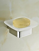 Contemporary Mirror Polished Finish Stainless Steel Material Soap Dish