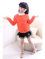 2015 Girls Rose Flower Coat Children Spring Autumn Long Sleeve Coat Kids Vaby Jacket Clothing Children Fashion Outwear