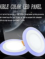Lampes Panneau Décorative Blanc Froid / Bleu JS 1 pièce 6W The 2835 lamp was 15, 3528 lamp was 48 SMD 3528White light is 270LM, blue