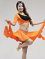 Belly Dance Outfits Women's Performance Modal Draped 3 Pieces Black / Fuchsia / Green / Orange / White