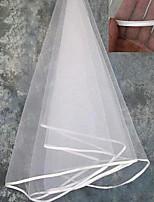 Wedding Veil One-tier Blusher Veils / Shoulder Veils / Elbow Veils / Fingertip Veils / Veils for Short Hair Ribbon Edge