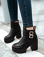 Women's Shoes Leatherette Chunky Heel Fashion Boots Boots Office & Career / Party & Evening /