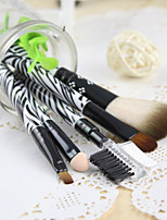 1Pcs A Set Of 5 Genuine Beauty Makeup Brush Powder Brush And Eyebrow Comb Tool For Cosmetic Color Random