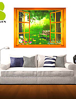 3D Wall Stickers Wall Decals, Romantic Landscape Decor Vinyl Wall Stickers