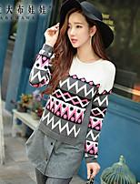 Women's Round Collar Fashion Elegant False two-piece Knitwear Sweaters