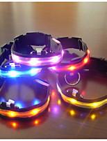 Perros Collar Luces LED / Ajustable/Retractable Verde / Azul / Morado / Naranja Plástico / Textil