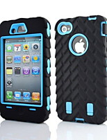 2 in 1 Armor Robot Style PC and Sillcone Composite Case for iPhone 4/4S