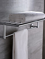 Bathroom Accessories Brass Chrome Finish Wall Mounted Towel Bar