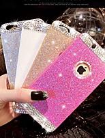cas diamant bling de couverture de paillettes avec le trou pour l'iphone 6 plus