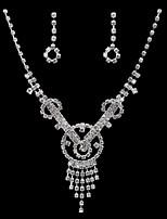 Women's Cubic Zirconia/Alloy Wedding/Party Jewelry Set With Cubic Zirconia