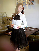 Деловая - ЖЕНЩИНЫ - Блузы и майки ( Полиэстер Как у рубашки - Длинный рукав