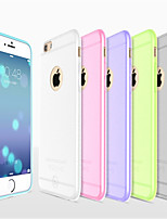 For iPhone 8 iPhone 8 Plus iPhone 6 iPhone 6 Plus Case Cover Ultra-thin Frosted Translucent Back Cover Case Solid Color Soft Silicone for