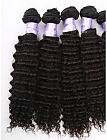 3pcs / lot del pelo brasileño virginal teje ofertas de paquetes de pelo rizado virginal brasileño, 100% extensión del pelo humano