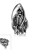 Men Punk Skull Shape Fashion Wind Restoring Ancient Ways of Titanium Steel Ring Halloween s Christmas Gifts