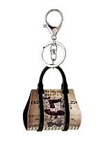 2016 Acrylic Key Chain Cartoon Scenery Painting Jewelry Handbag Car Keychain Women Holder Key Ring Gift