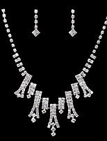 Ladies'/Women's Cubic Zirconia/Alloy Wedding/Party Jewelry Set With Cubic Zirconia