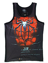 Men's Sleeveless Vest , Rayon Casual Print