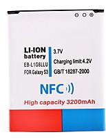 li-ion 3.7v 3200mah con la tecnología NFC para Samsung s3 i9300