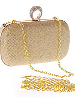 Women Evening Bag Polyester All Seasons Formal Event/Party Wedding Baguette Clasp Lock Ruby Silver Black Gold