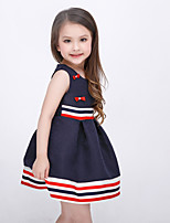 Girl's Holiday Striped Dress,Polyester Sleeveless