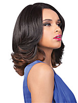 Capless Natural Beauty Fashion Brown Color Gradient Wave Ladies's Wig