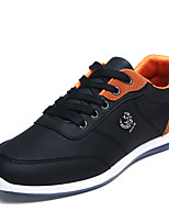 Men's Shoes Casual Leather Fashion Sneakers Black / Blue / Gray