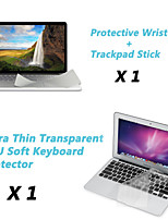 Ultra Thin TPU Keyboard Cover + Metal Rest Protective Film and Touch Panel Membrane for 13.3
