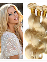 3pcs/lot Blonde Brazilian Virgin Hair Body Wave 613 Color From 8