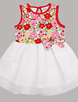 Children Dress Sleeveless Summer Floral Print Girl Dresses(Random Printed)