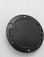 Iztoss Black Stainless Steel ABS Gas Fuel tank Cap Cover 4-Door 2-Door Fit for Jeep Wrangler JK & Unlimited 2007-2015