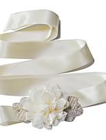Faixa Cetim Faixas para Mulheres Casamento / Festa/Noite / Dia a Dia Miçangas / Pérolas / Florais / Frufrus / Pedraria