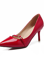 Women's Shoes Patent Leather Stiletto Heel Heels / Pointed Toe Heels Office & Career / Casual Black / Red / Beige