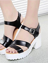 Women's Shoes Leatherette Platform Creepers Sandals Casual Black / Blue / White / Beige