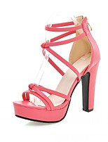 Women's Shoes Leatherette Stiletto Heel Peep Toe Sandals Wedding / Office & Career / Party