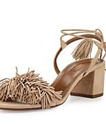 Women's Shoes  Chunky Heel Heels / Open Toe Sandals Outdoor / Casual Black / Red / Skin