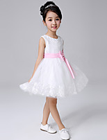 Girl's White Dress,Ruffle Acrylic All Seasons