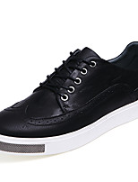 Men's Shoes Outdoor / Office & Career / Casual Leather Oxfords Black / Brown / Gray