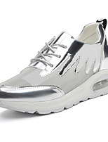 Women's Shoes Synthetic Flat Heel Comfort Fashion Sneakers Office & Career / Athletic / Dress / Casual White / Silver