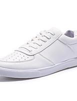 Scarpe da uomo - Sneakers alla moda - Casual - Finta pelle - Nero / Bianco