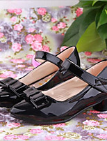 Girls' Shoes Outdoor / Casual Heels Faux Leather Heels Black / Pink